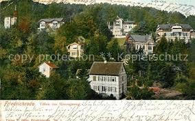 Ak Ansichtskarte Friedrichroda Blick Vom Herzogsweg Friedrichroda Blick Auf Die Villen Am Herzogsweg Nr 4712 Oldthing