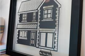 Personalised Home Decor Personalised House Papercut In A Floating Frame