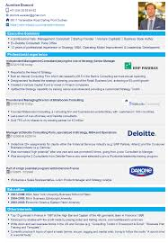 Mckinsey Resume Deloitte Consulting Resume Free Resume Example And Writing Download