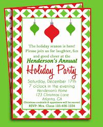 Christmas Ornament Party Invitations - christmas ornament invitation christmas party and decorating