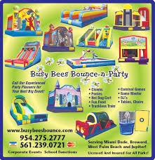 party rentals broward welcome to busy bees bounce bounce n party serving broward dade