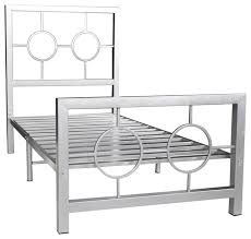 eternity metal bed frame twin circle design contemporary