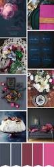 a chic charcoal navy and fuschia wedding colour palette