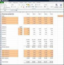Sales Forecast Spreadsheet Exle by Revenue Projections Calculator Plan Projections