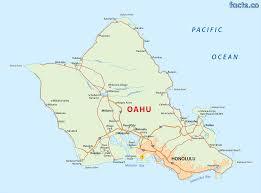 map of hawaii cities oahu island map