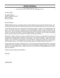 cover letter for teacher position 22 sample letters resume email