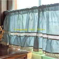 online buy wholesale kitchen curtains blue from china kitchen
