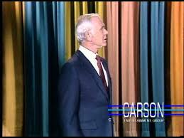 johnny carson is corrected by doc severinsen during the monologue