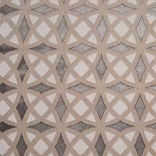 Retro Upholstery Cordova Retro Geometric Cut Velvet Upholstery Fabric Platinum Sand