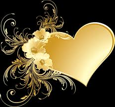 gold flowers gold heart with flowers png picture gallery yopriceville high