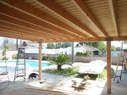 patio u0026 outdoor natural wood covered patio ideas for awesome