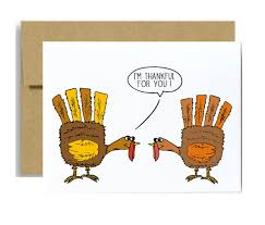 thanksgiving card i am thankful for you two turkeys by
