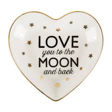 you to the moon back trinket dish the hare
