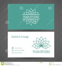 yoga studio vector business card template stock vector image