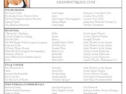 Example Of A Dance Resume Dance Resume Example Resume Endorsement Samples Choreographer
