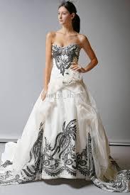 white dresses for wedding 30 black and white wedding dresses combination fashion fuz