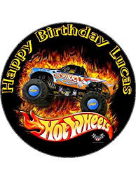 hot wheels cake toppers 7 5 hot wheels edible icing birthday cake topper co uk