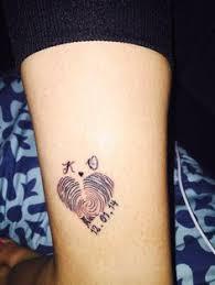 my sons fingerprint tattoo dalyn pinterest fingerprint