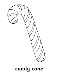 big and sweet candy cane coloring page big and sweet candy cane