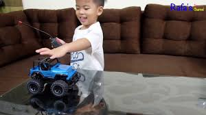 videos of remote control monster trucks remote control monster truck jeep rc toy video for kids youtube