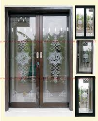 stickers for glass doors stickrenz sandblast mosque door sticker cutting arts sticker