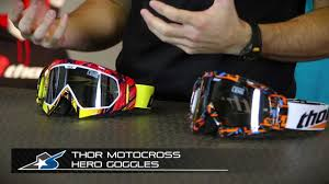 custom motocross goggles thor motocross hero goggle from motorcycle superstore com youtube