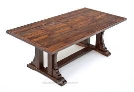 Rustic Oak Dining Tables Rustic Oak Barn Wood Dining Table Reclaimed Oak Table Trestle
