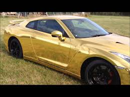 nissan gold gold chrome nissan gt r vehicle wrap for topgear live 2012 youtube