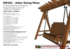 home garden plans sw101 arbor swing plans construction graden