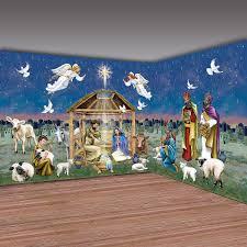 design a room christmas nativity scene backdrop set christmas