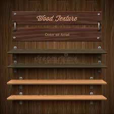 Wooden Bookshelf Blank Wooden Bookshelf Stock Vector Image Of Book Office 35341702