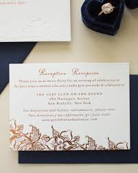 bilingual wedding invitations bilingual copper foil and blind letterpress wedding invitations