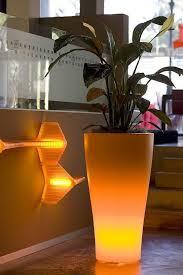 outdoor garden pots with built in lighting llum by vondom digsdigs