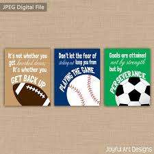 printable sports quotes set of 3 motivating sports quotes printable signs football