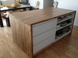 building a kitchen island with ikea cabinets malm meets numerar kitchen island ikea hackers