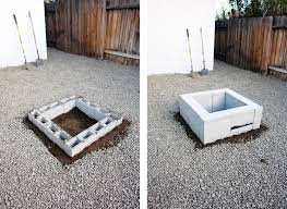 How To Build A Square Brick Fire Pit - brick house