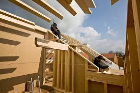 hand build architectural wood framework model house construction of a wooden house pictures getty images
