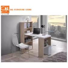 study table l skl furniture 6139 2in1 l shape study table with book shelf