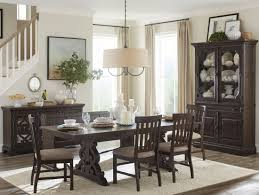 magnussen bellamy dining table dining st claire rustic pine extendable rectangular dining room set
