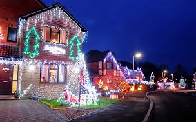 houses with christmas lights near me let it glow extravagant christmas light displays on uk homes in