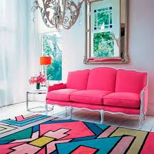 Modern Colorful Rugs Colorful Modern Rug In Pink Blue Lavender And Green Color