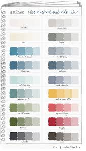 miss mustard seed milk paint color swatch book colorways with