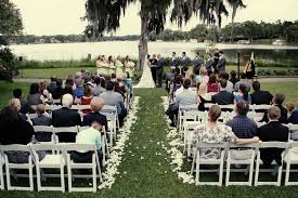 from ginger midgett photography photo of a lakefront wedding