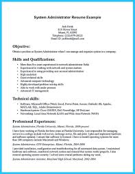 Senior System Administrator Resume Sample by System Administrator Skills Resume Free Resume Example And