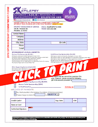 charity sponsor form download memo template