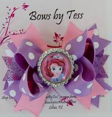 sofia the ribbon character shaped hair bows sofia inspired stacked boutique bow