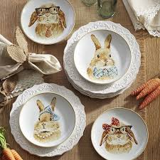 rabbit dish set 68 best bunny decor images on rabbit bunnies and rabbits