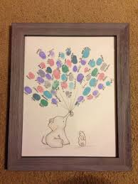 elephant baby shower guest book or elephant birthday guestbook