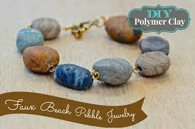 diy bracelet stones images Faux stone jewelry from polymer clay debis design diary jpg
