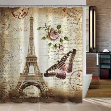 Vintage Bathroom Accessories Amazon Com Uphome 72 X 72 Inch Retro Vintage Paris Eiffel Tower